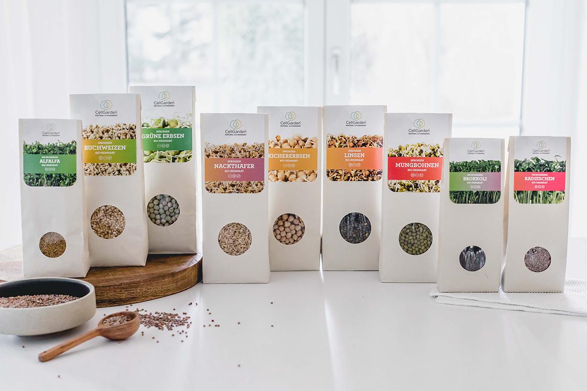 Superfood Sortiment zum Sprossen selber ziehen von Cell Garden