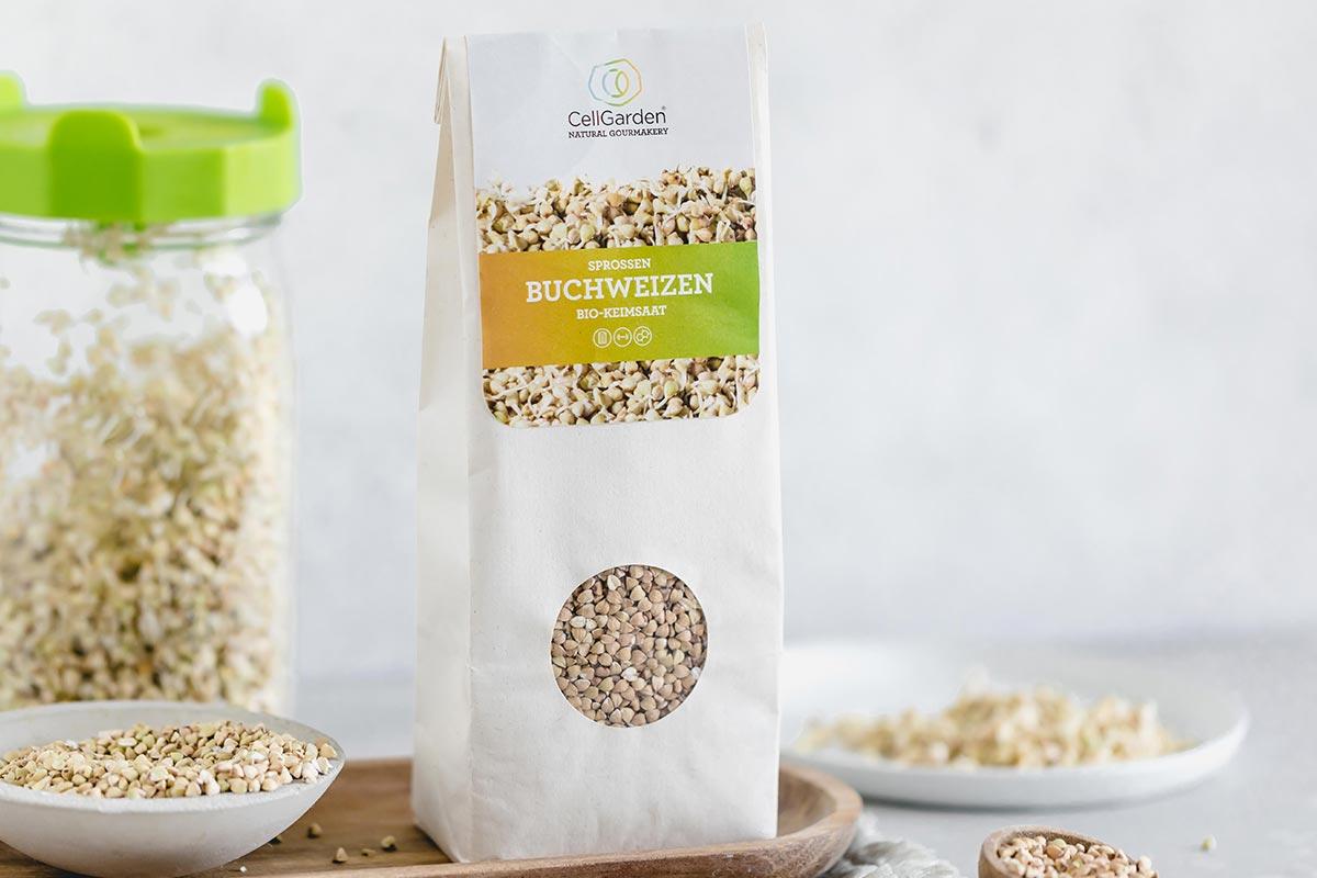 Buchweizen Samen in 500 g Papierbeutel zum Sprossen züchten