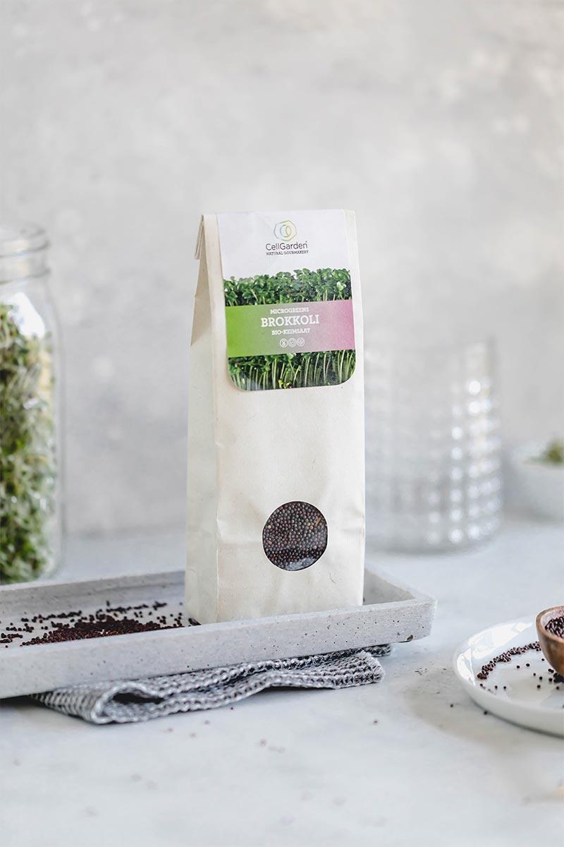 Brokkoli Samen in 500 g Papierbeutel zum Sprossen züchten