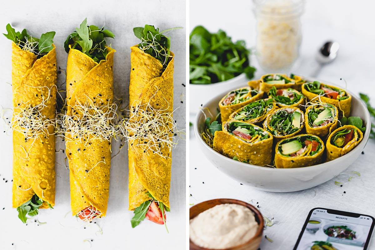 Avocado-Wrap aus Buchweizen