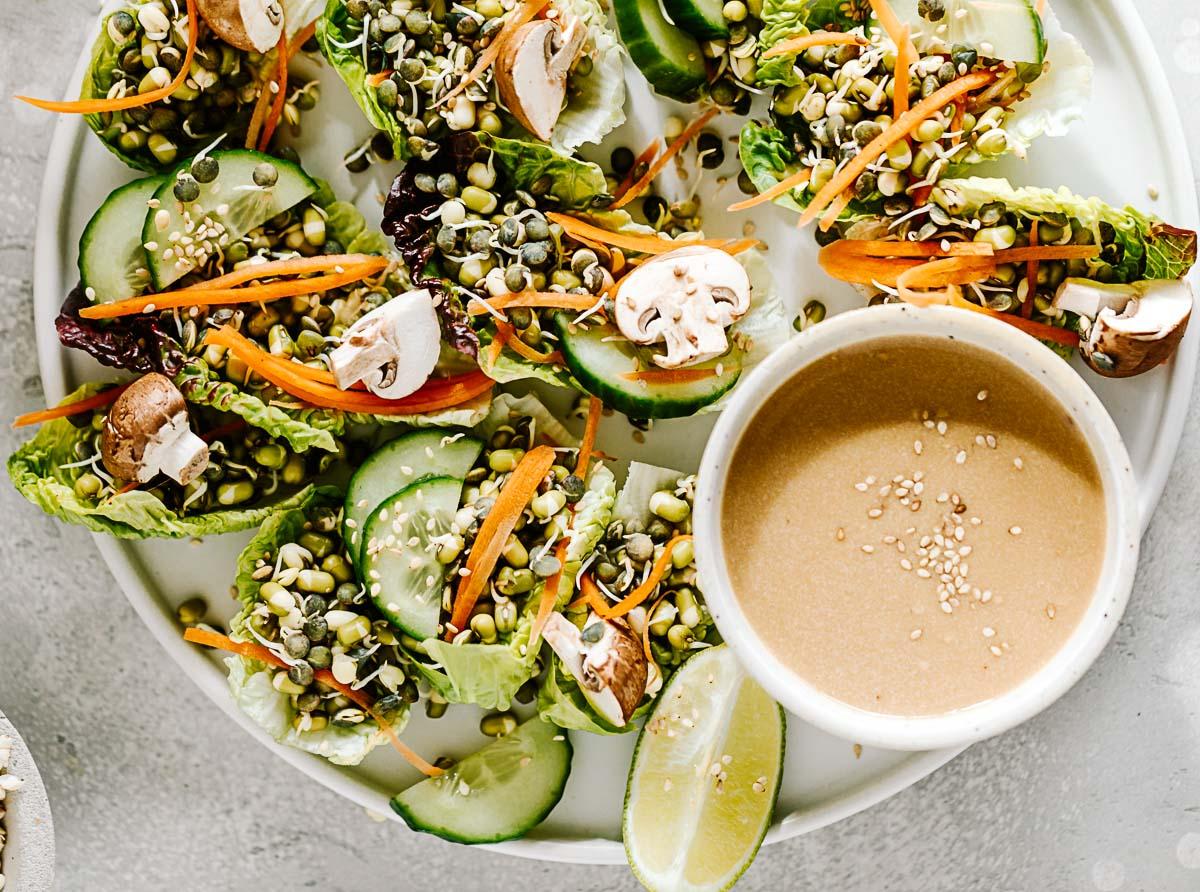 Mungbohnen-Linsen-Salat