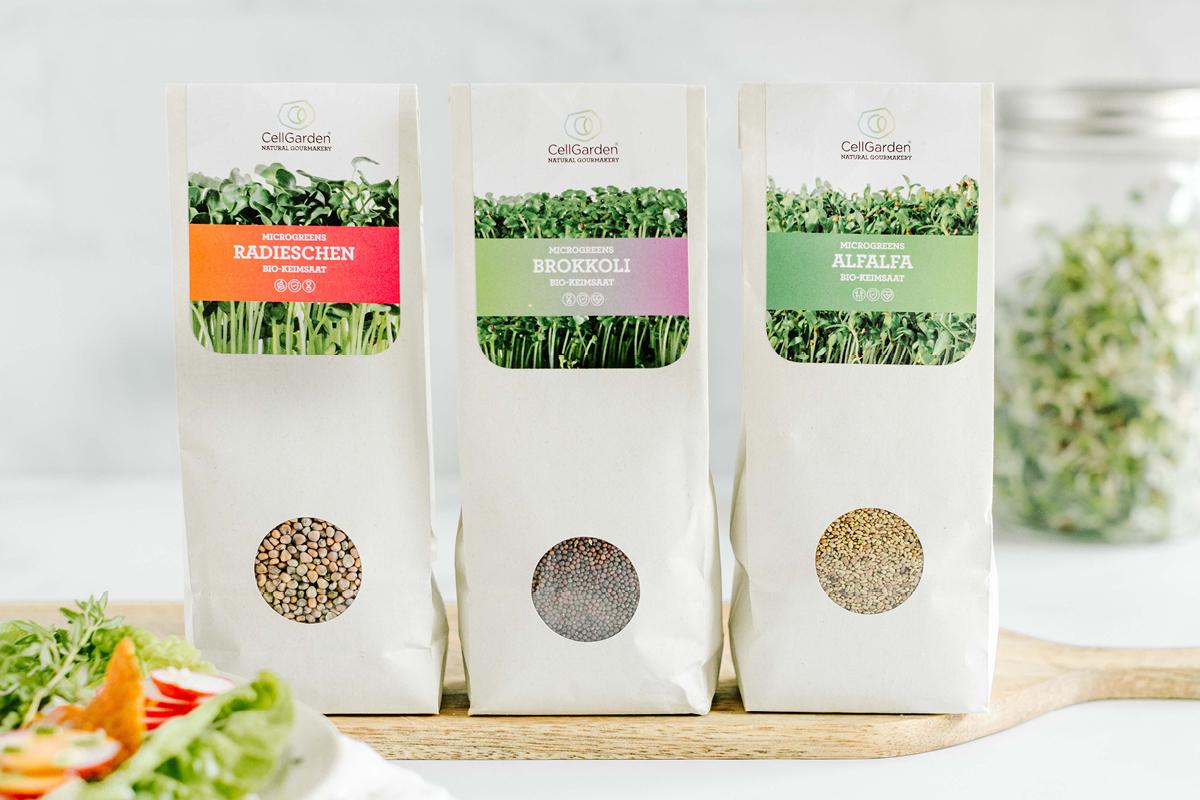 Bio-Keimsaat Set |  3 Sorten | Microgreens