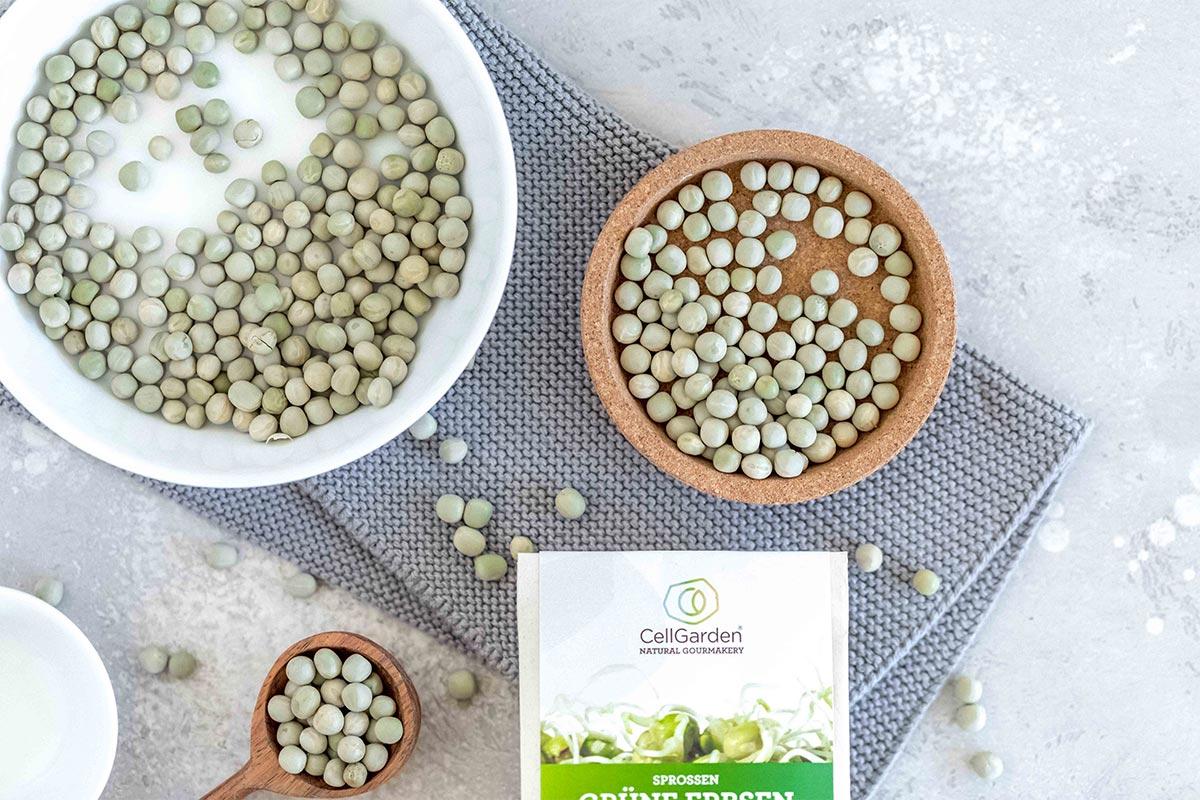 Bio-Keimsaat grüne Erbsen  | 500 g
