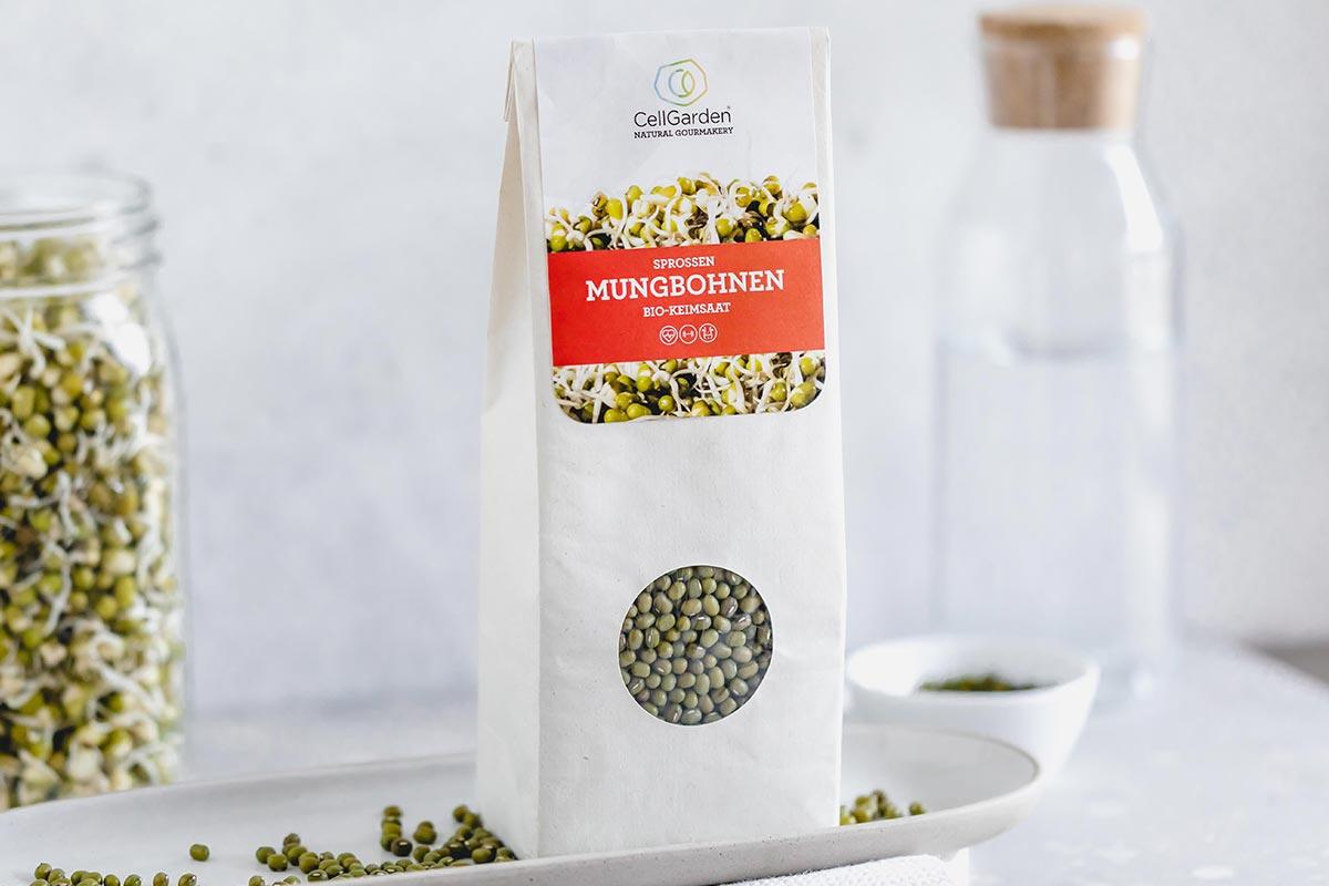 Mungbohnensprossen in 500 g Papierbeutel zum Sprossen züchten
